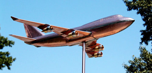 747 Airplane Weathervane