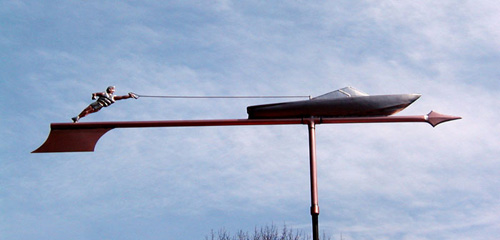 Water Skier Weathervane